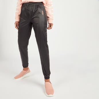 Textured Jog Pants with Elasticised Waistband and Drawstring Closure