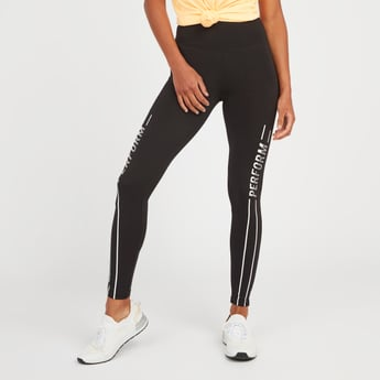 Ankle Length Printed Leggings with Elasticised Waistband