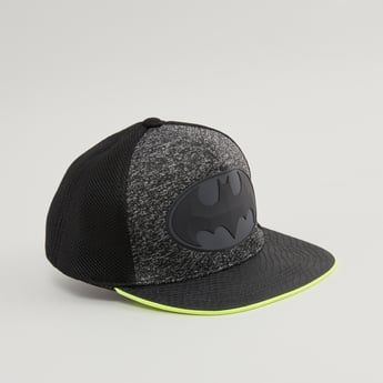 Batman Printed Cap with Snap Closure