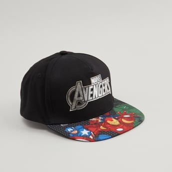 Avengers Printed Cap with Hook and Loop Closure