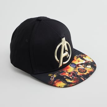 The Avengers Printed Cap with Hook and Loop Closure