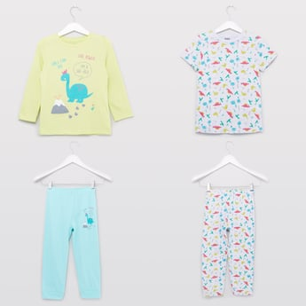 Set of 2 - Printed T-shirt and Pyjamas