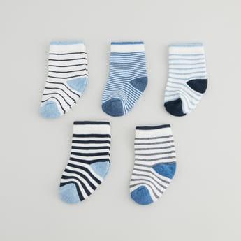Set of 5 - Striped Crew Length Socks