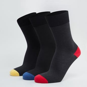 جوارب بارزة الملمس بطول ربلة الساق - طقم من 3 أزواج