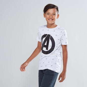 Avengers Reversible Sequin Detail T-shirt with Short Sleeves