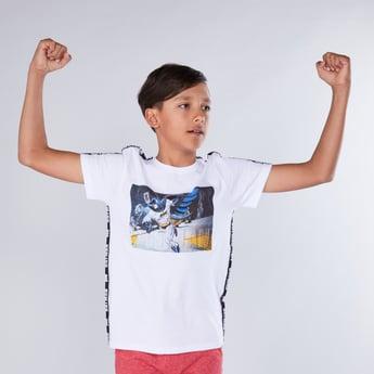 Batman Printed Round Neck Short Sleeves T-Shirt