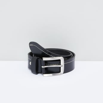 Stitch Detail Belt with Pin Buckle