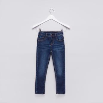 بنطال جينز طويل بجيوب