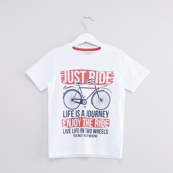 Graphic Printed Round Neck T-shirt