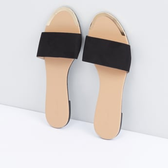 Slides with Metallic Accent