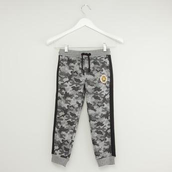 Camo Print Joggers with Pockets and Drawstring Closure