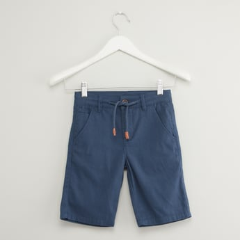Striped Shorts with Pockets and Drawstring