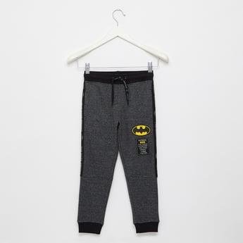 Batman Print Jog Pants with Elasticated Drawstring Waistband