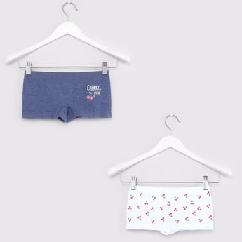 Set of 2 - Printed Boyshorts with Elasticated Waistband