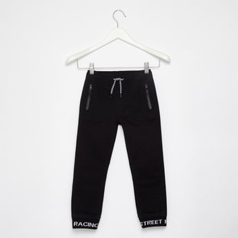 Comfort Fit Full Length Joggers with Elasticated Drawstring Waist