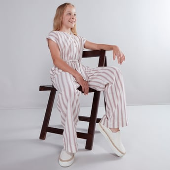 Striped Jumpsuit with Pocket Detail