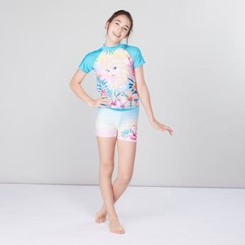 Princess Printed Swimwear T-shirt with Shorts