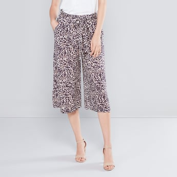 Printed Culottes with Pocket Detail