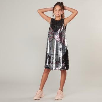 فستان بدون أكمام برسمة هالو كيتي وترتر