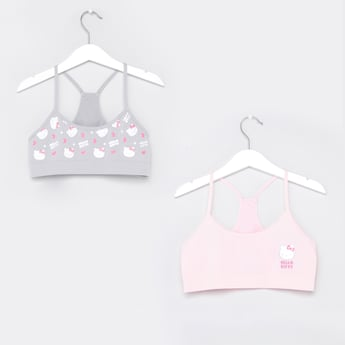 Set of 2 - Hello Kitty Printed Bra