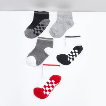 جوارب قطن بطبعات - طقم من 5 قطع