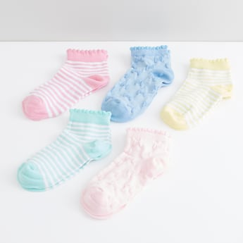 Textured Ankle Length Socks - Set of 5