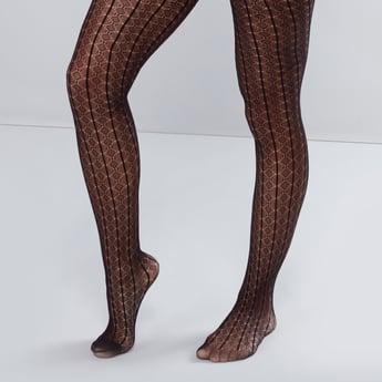 Textured Fishnet Stockings