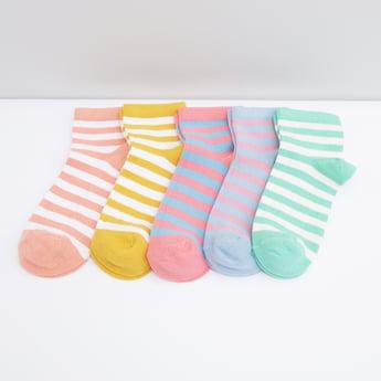 جوارب قطن مقلّمة - طقم من 5 قطع