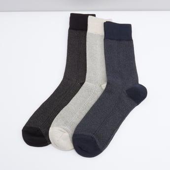 Set of 3 - Textured Socks