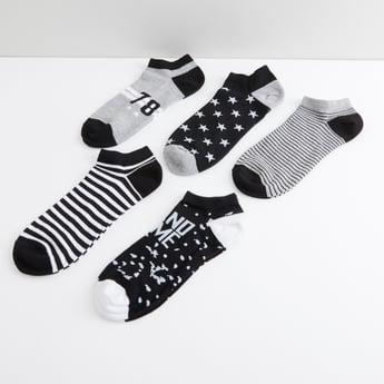 Assorted Ankle Length Socks - Set of 5
