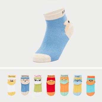 Set of 7 - Animal Print Socks