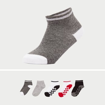 Set of 3 - Checked Ankle Length Socks