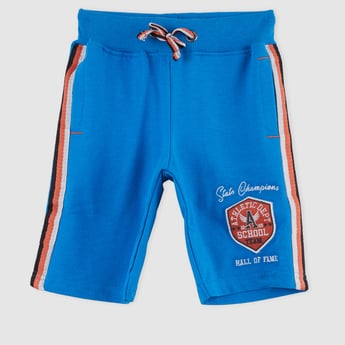 Embroidered Shorts with Elasticised Waistband