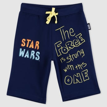 Star Wars Printed Shorts with Elasticised Waistband