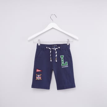 Embroidered Shorts with Drawstring