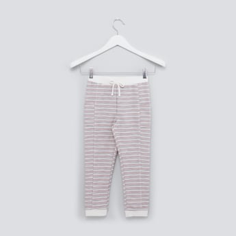 Striped Jog Pants with Drawstring and Pocket Detail