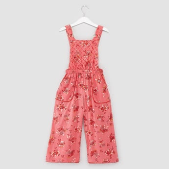 Printed Jumpsuit with Pocket Detail and Elasticised Waistband