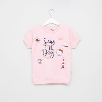 Hello Kitty Printed Sweat Top