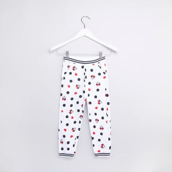 Minnie Mouse Printed Jog Pants with Elasticised Waistband