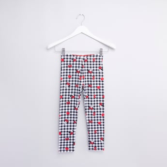 Minnie Mouse Printed Leggings with Elasticised Waistband