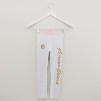 Princess Print Leggings with Elasticised Waistband