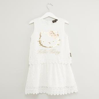 Hello Kitty Embellished Sleeveless Dress