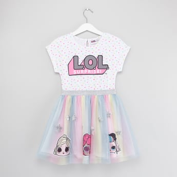 L.O.L. Surprise! Print Dress with Short Sleeves