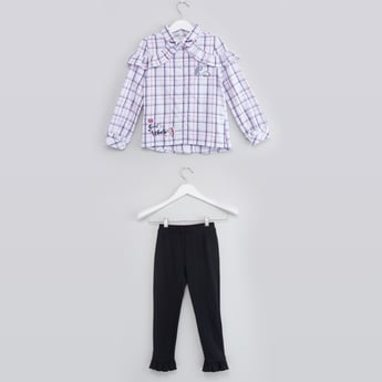 Chequered Top with Full Length Pants