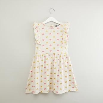 Heart Printed Sleeveless Dress
