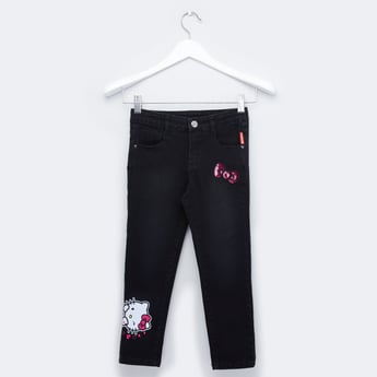 Full Length Hello Kitty Denim with 5-Pockets and Button Closure