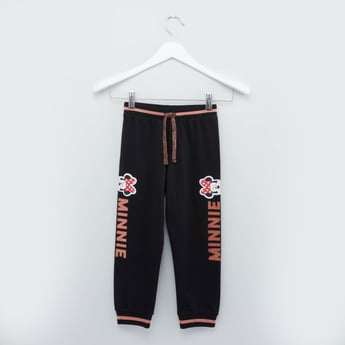 Minnie Mouse Printed Joggers with Drawstring Closure