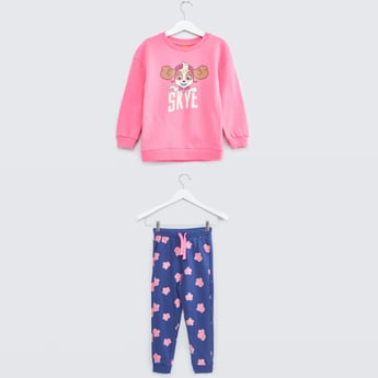 Paw Patrol Printed T-shirt and Joggers Set