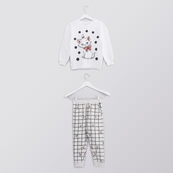 Marie Printed Long Sleeves T-shirt with Full Length Jog Pants
