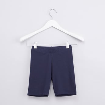Plain Cycling Shorts with Elasticised Waistband